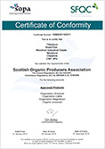 Scotish Organic Producers Association Certificate of conformity