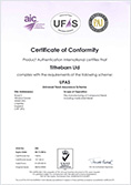 UFAS Certificate of Conformity